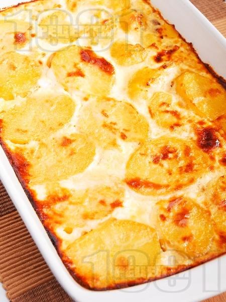 Постна мусака от гъби и картофи - снимка на рецептата
